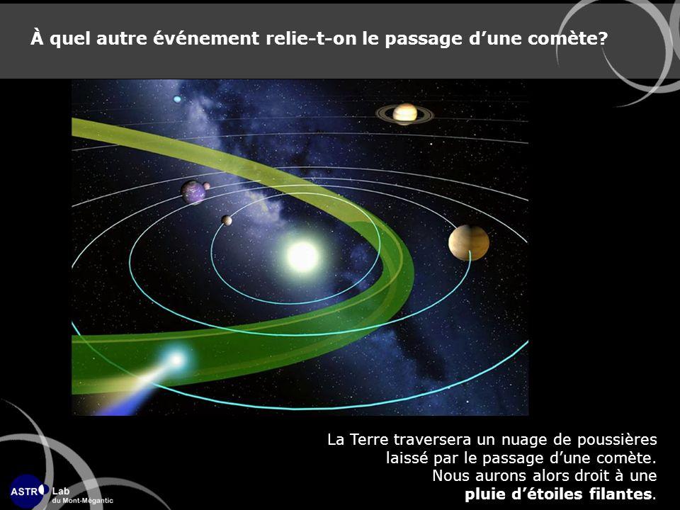 À quel autre événement relie-t-on le passage d'une comète
