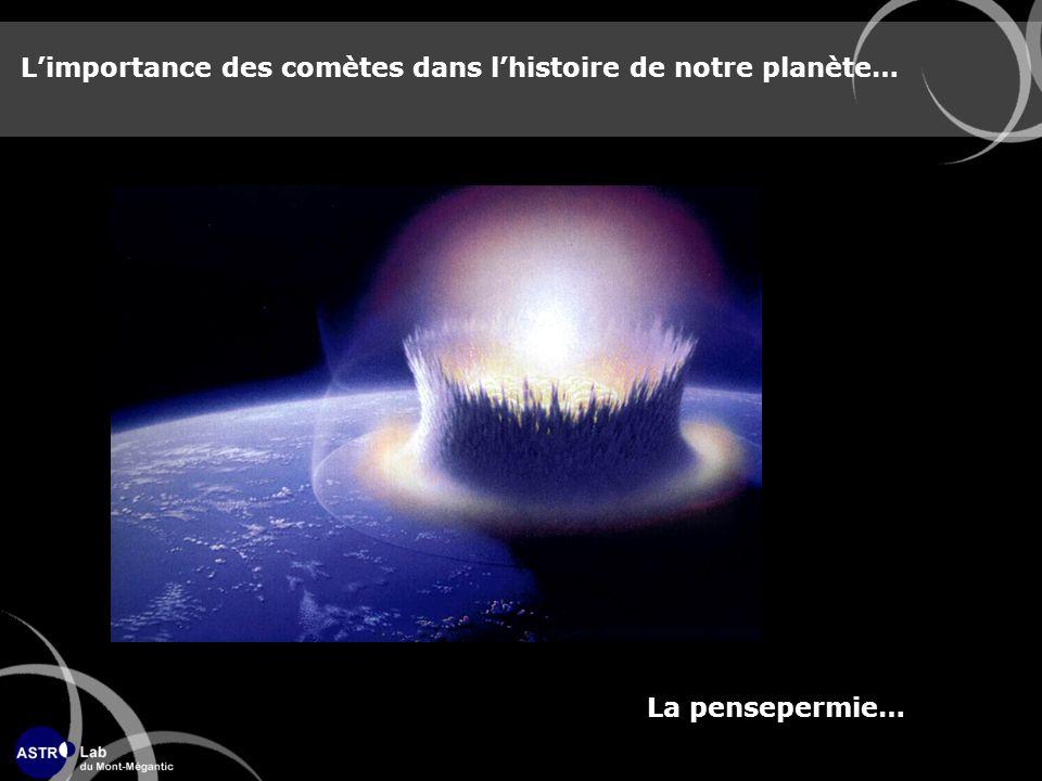 L'importance des comètes dans l'histoire de notre planète…