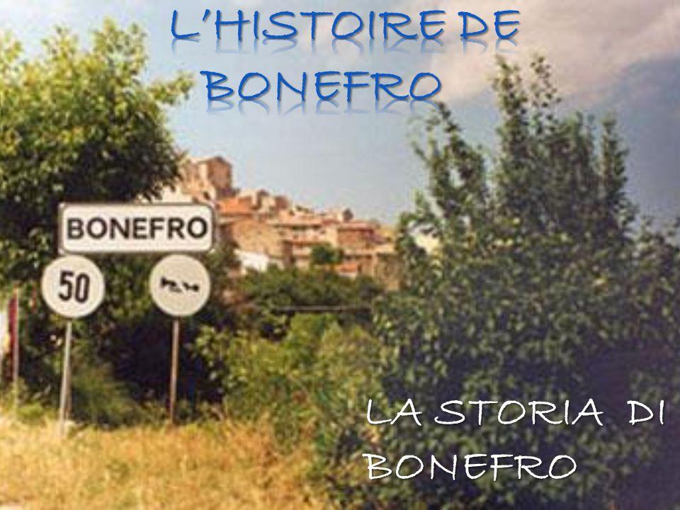 L'HISTOIRE DE BONEFRO LA STORIA DI BONEFRO
