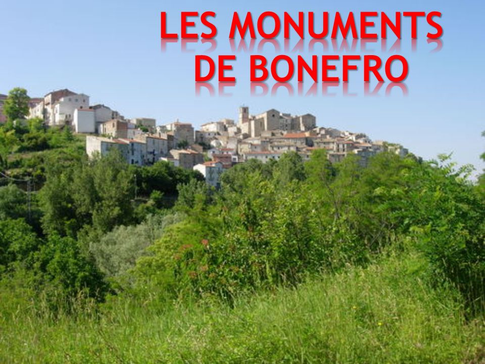 LES MONUMENTS DE BONEFRO