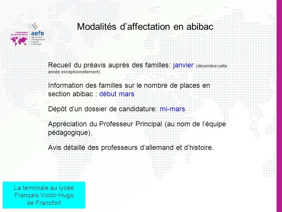 La terminale au lycée Français Victor-Hugo de Francfort