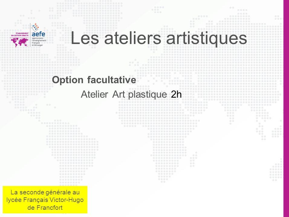 Les ateliers artistiques