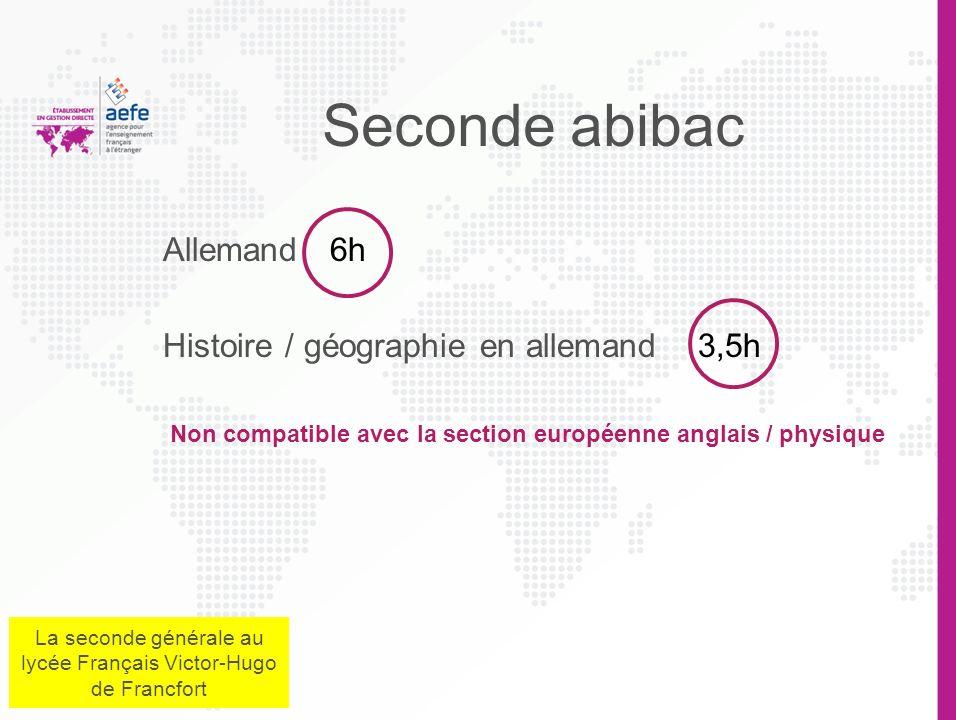 Non compatible avec la section européenne anglais / physique