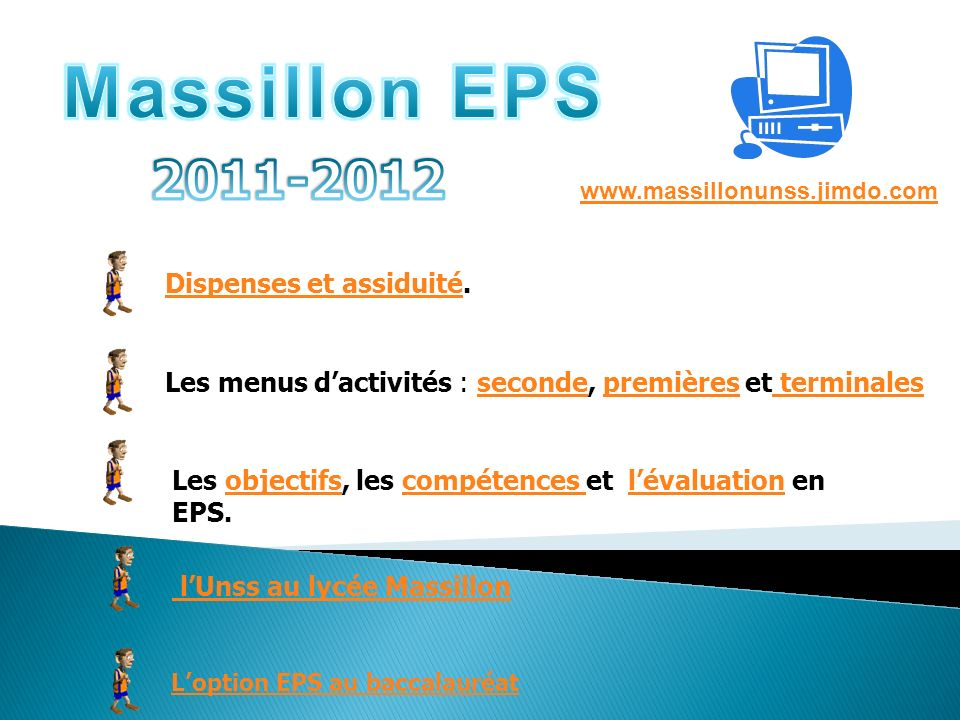 Massillon EPS 2011-2012 Dispenses et assiduité.