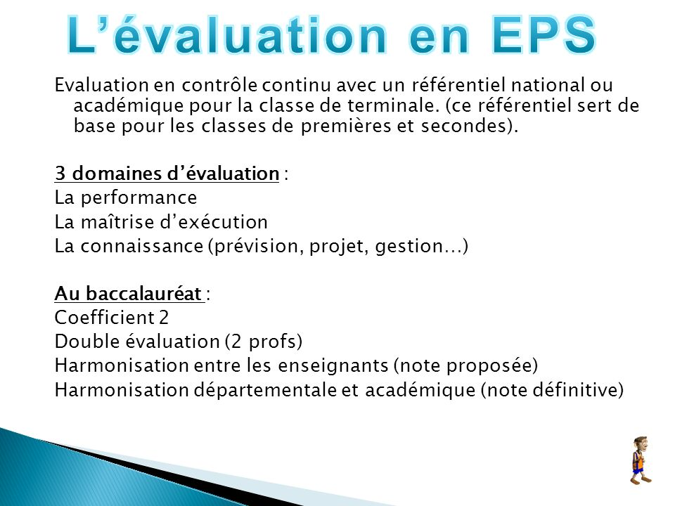 L'évaluation en EPS