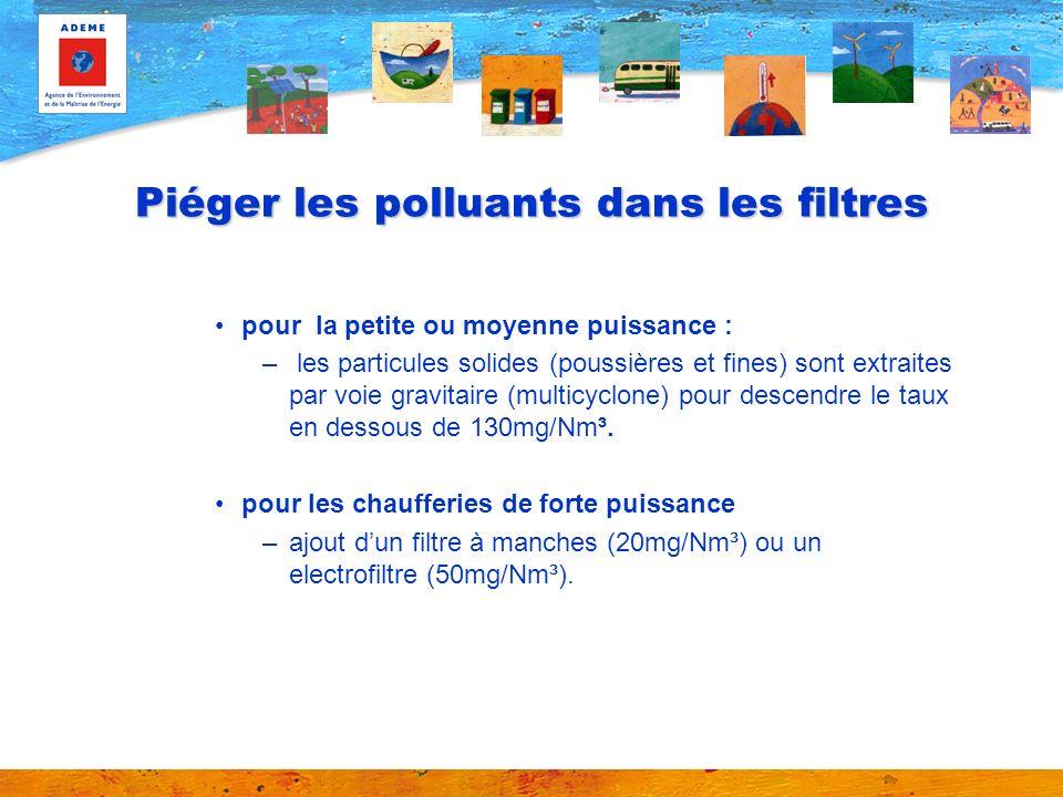 Piéger les polluants dans les filtres