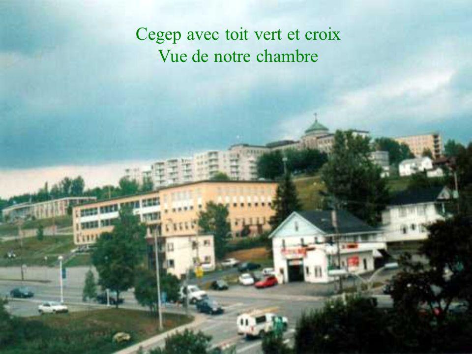 Cegep avec toit vert et croix
