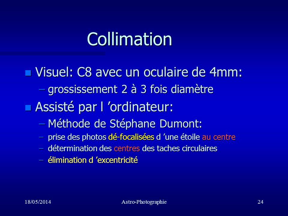 Collimation Visuel: C8 avec un oculaire de 4mm:
