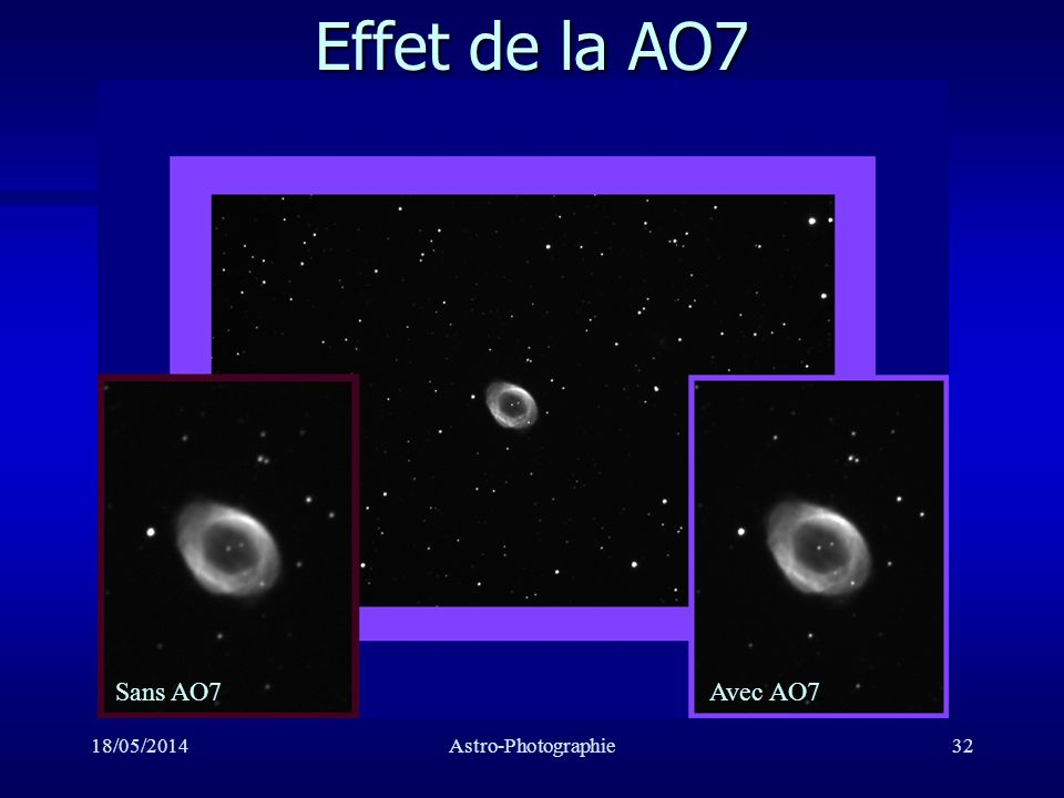 Effet de la AO7 Sans AO7 Avec AO7 31/03/2017 Astro-Photographie