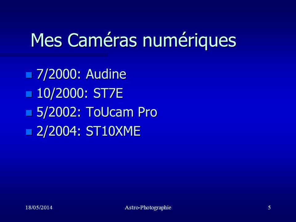 Mes Caméras numériques