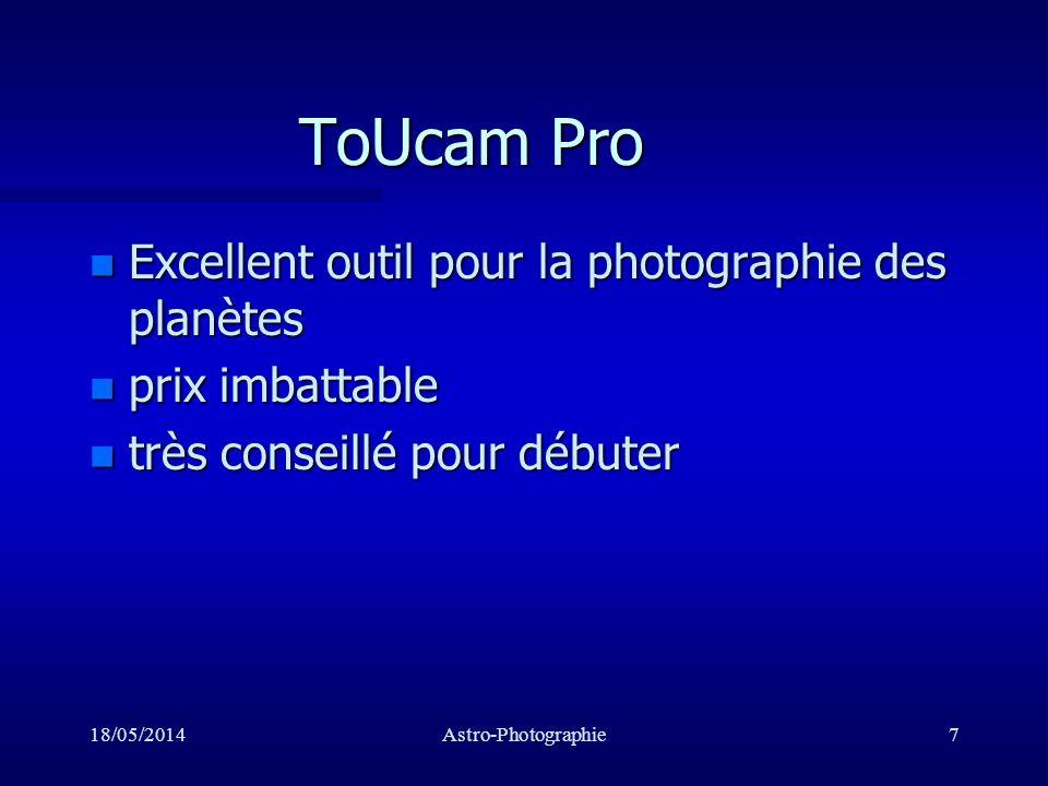 ToUcam Pro Excellent outil pour la photographie des planètes