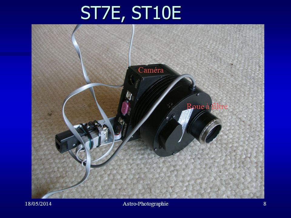 ST7E, ST10E Caméra Roue à filtre 31/03/2017 Astro-Photographie
