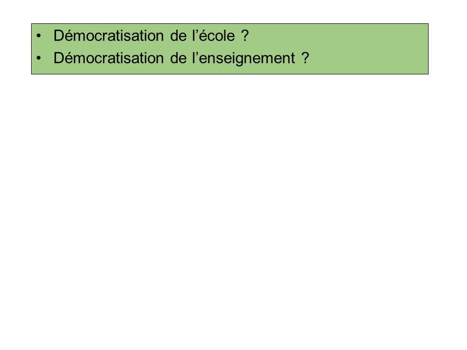 Démocratisation de l'école