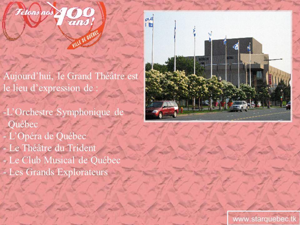 Aujourd'hui, le Grand Théâtre est le lieu d'expression de :