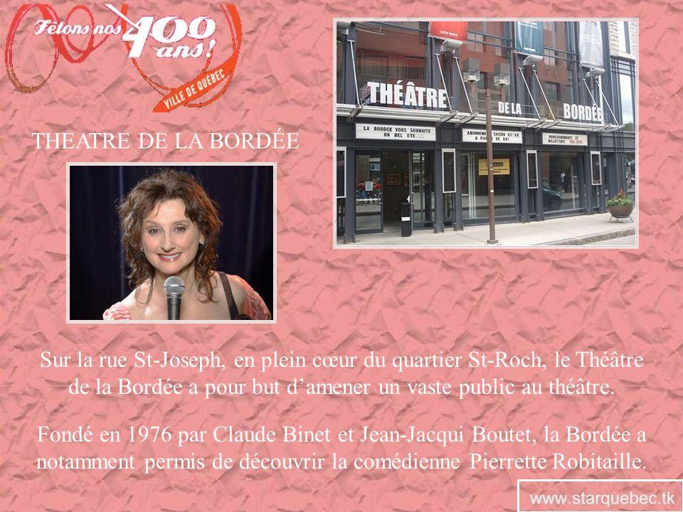 Sur la rue St-Joseph, en plein cœur du quartier St-Roch, le Théâtre