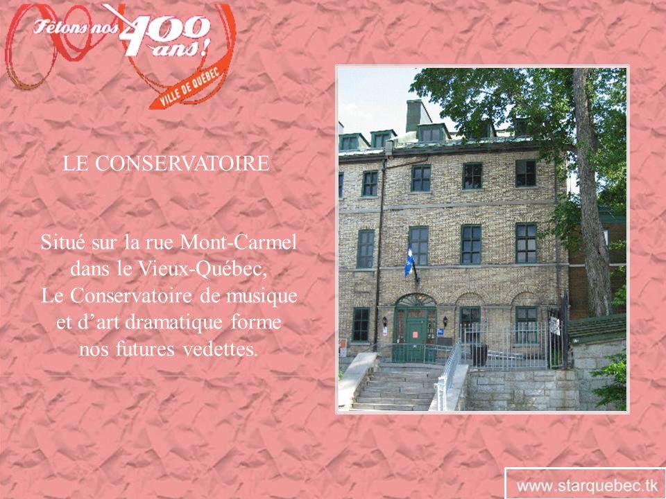 Situé sur la rue Mont-Carmel dans le Vieux-Québec,