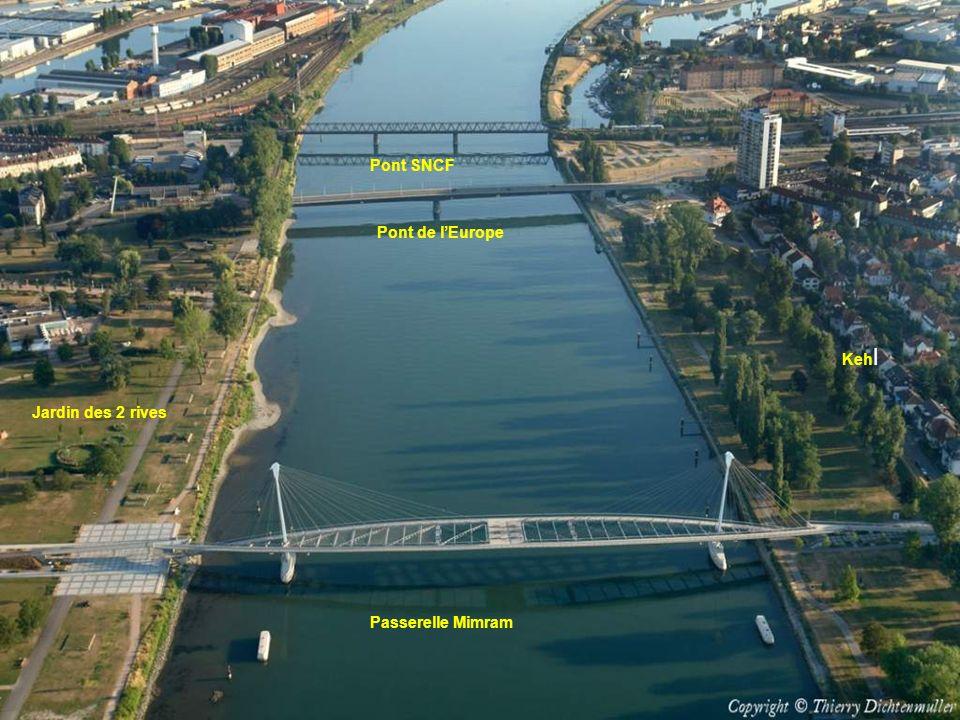 Pont SNCF Pont de l'Europe Kehl Jardin des 2 rives Passerelle Mimram