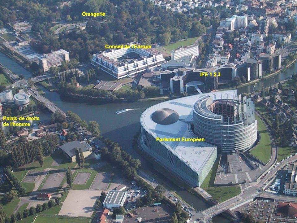 Orangerie Conseil de l'Europe IPE 1 2 3 Palais de droits de l'homme Parlement Européen