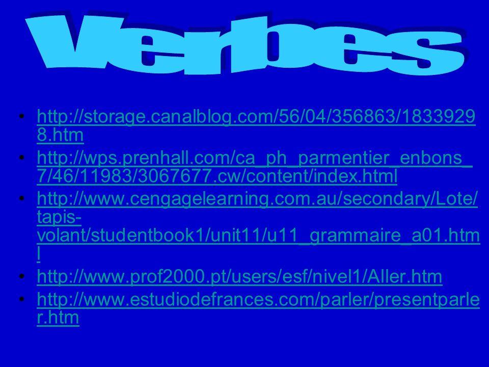 Verbes http://storage.canalblog.com/56/04/356863/18339298.htm