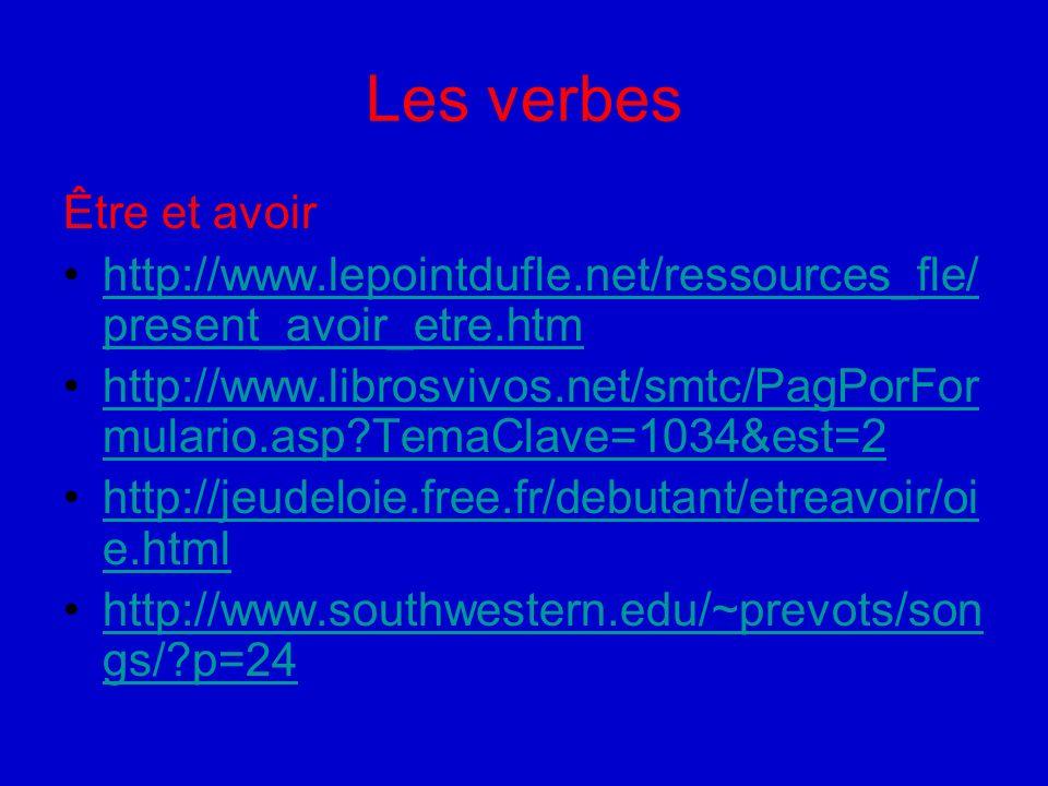 Les verbes Être et avoir