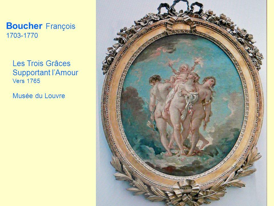 Boucher François Les Trois Grâces Supportant l'Amour 1703-1770