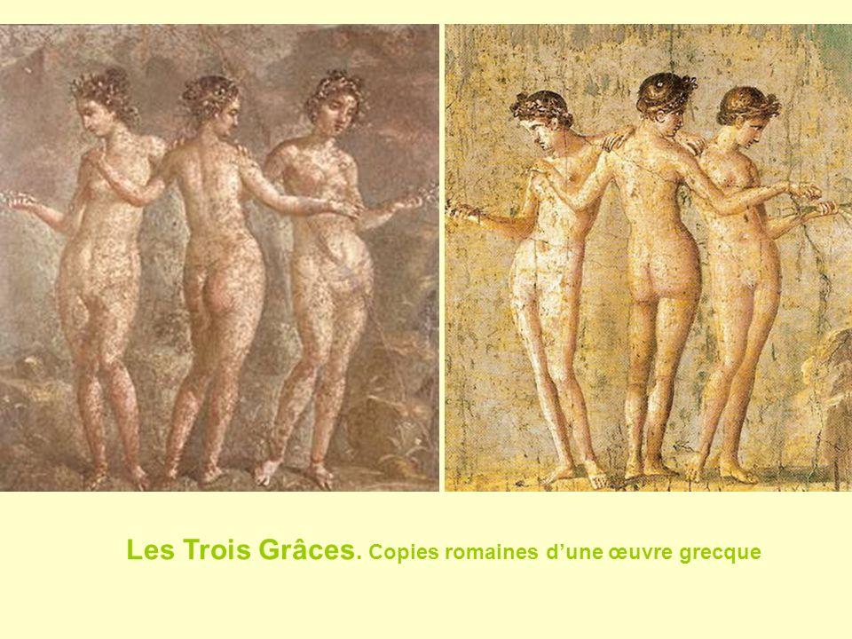 Les Trois Grâces. Copies romaines d'une œuvre grecque