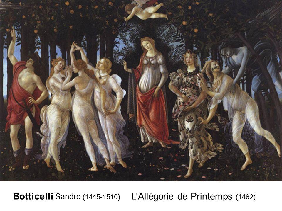 Botticelli Sandro (1445-1510) L'Allégorie de Printemps (1482)