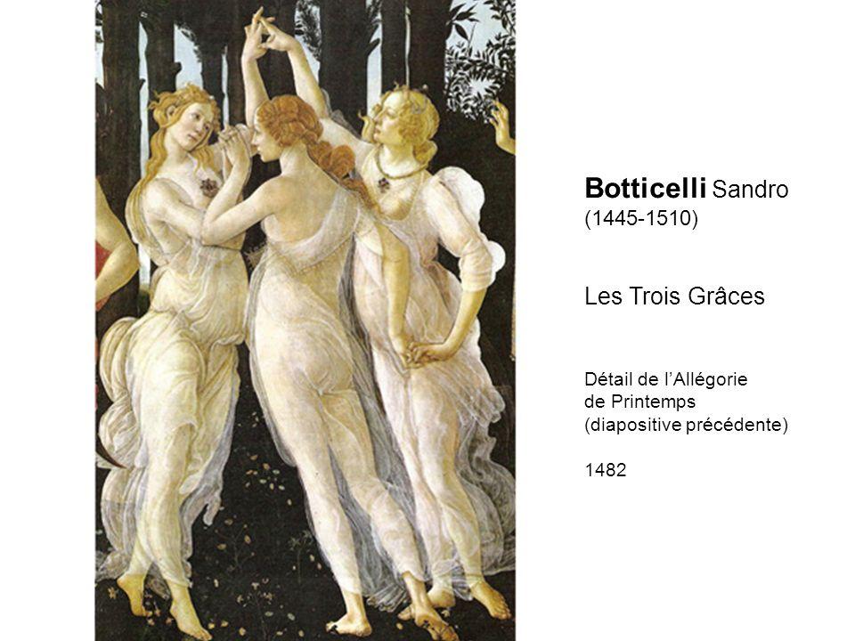 Botticelli Sandro Les Trois Grâces (1445-1510) Détail de l'Allégorie
