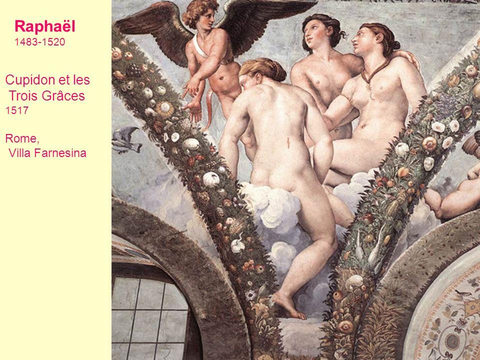 Raphaël Cupidon et les Trois Grâces Rome, Villa Farnesina 1483-1520
