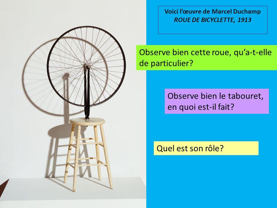 Voici l'œuvre de Marcel Duchamp