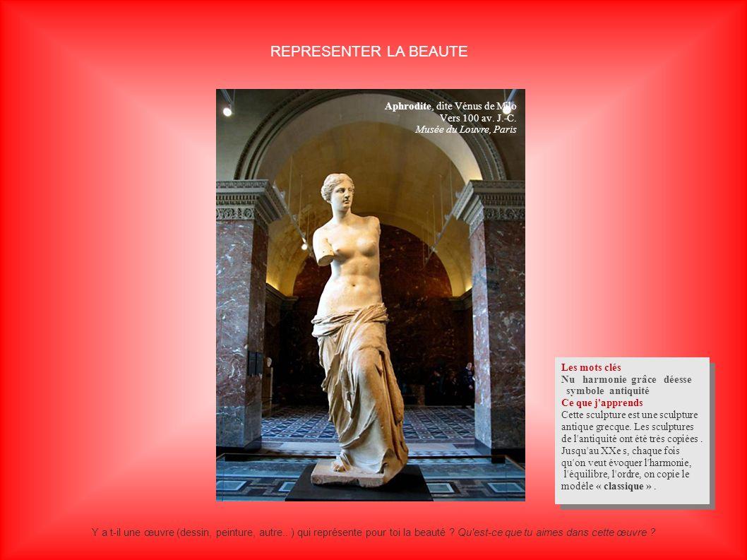 REPRESENTER LA BEAUTE Aphrodite, dite Vénus de Milo Vers 100 av. J.-C.