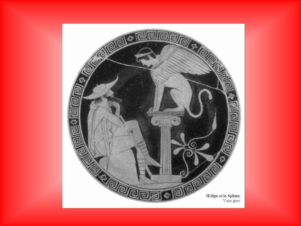 Œdipe et le Sphinx Vase grec
