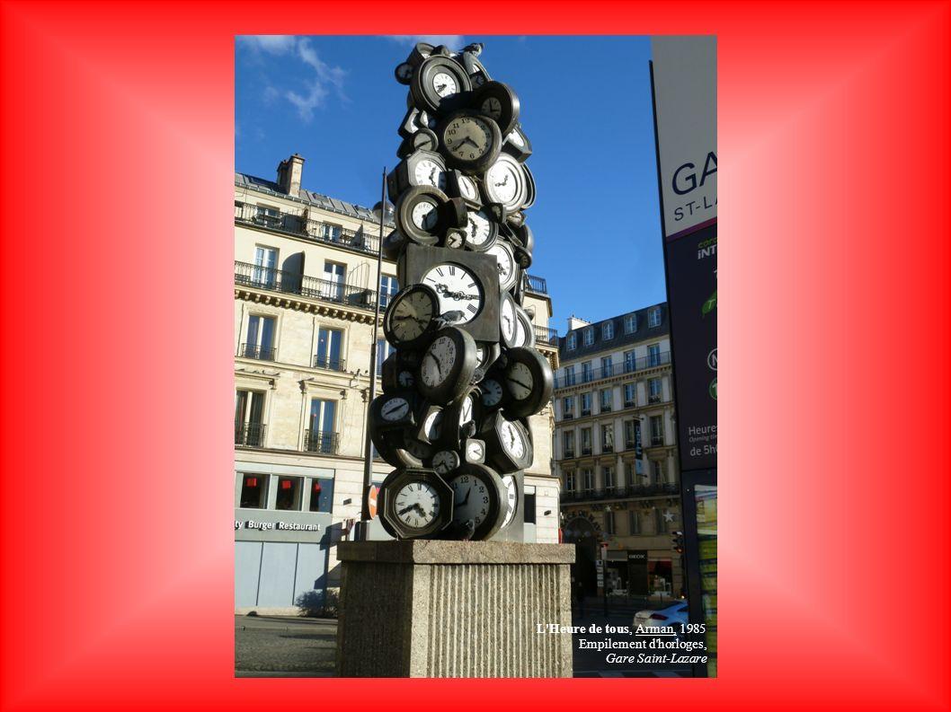 L Heure de tous, Arman, 1985 Empilement d horloges, Gare Saint-Lazare