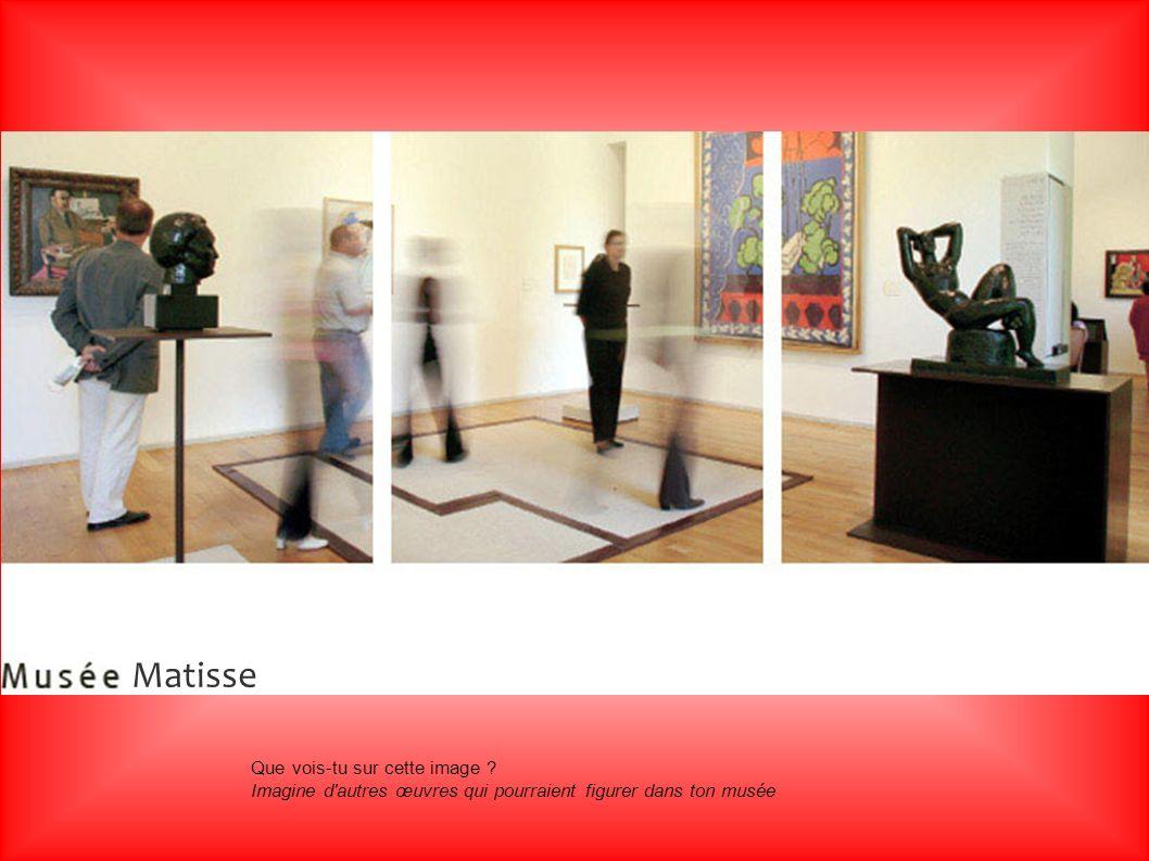 Matisse Matisse. Que vois-tu sur cette image .