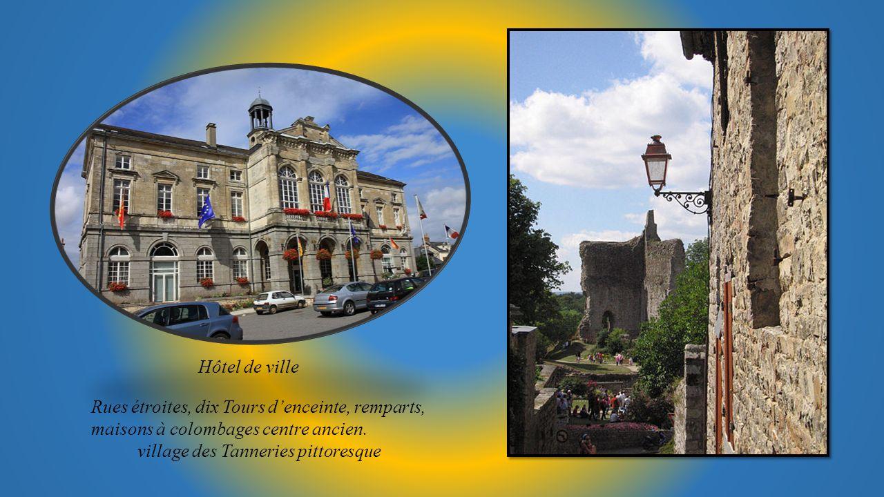 Hôtel de ville Rues étroites, dix Tours d'enceinte, remparts, maisons à colombages centre ancien.