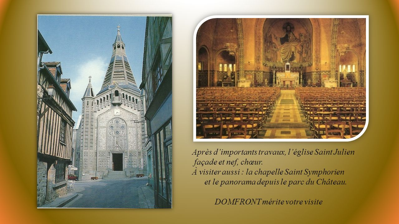 Après d'importants travaux, l'église Saint Julien