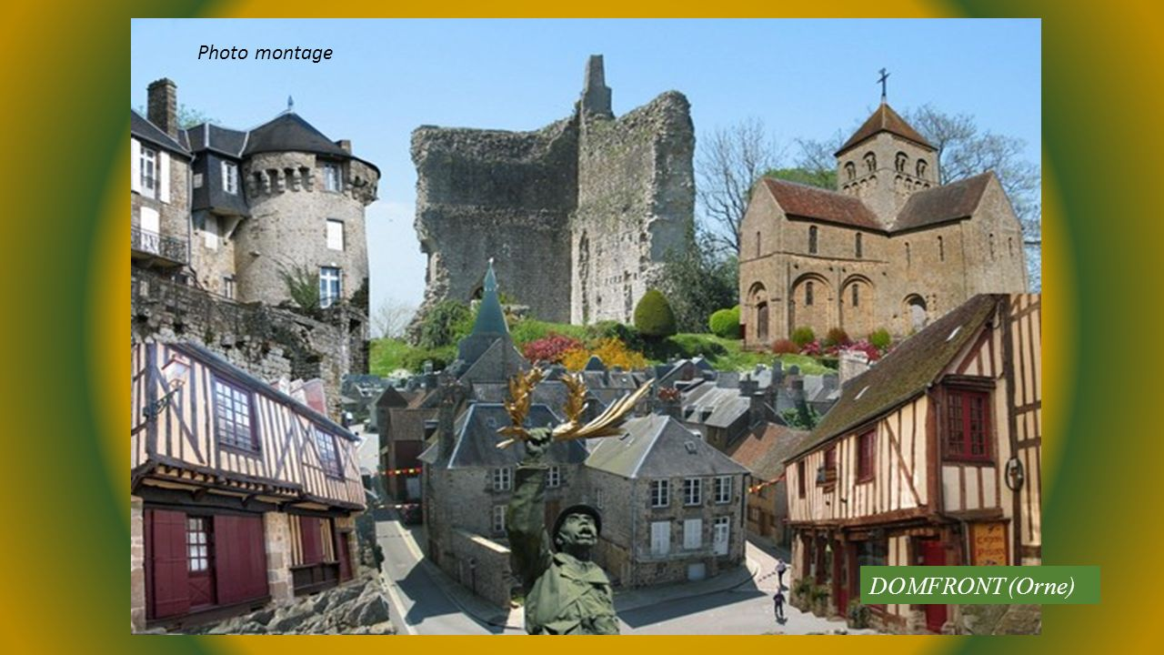 Photo montage DOMFRONT (Orne)