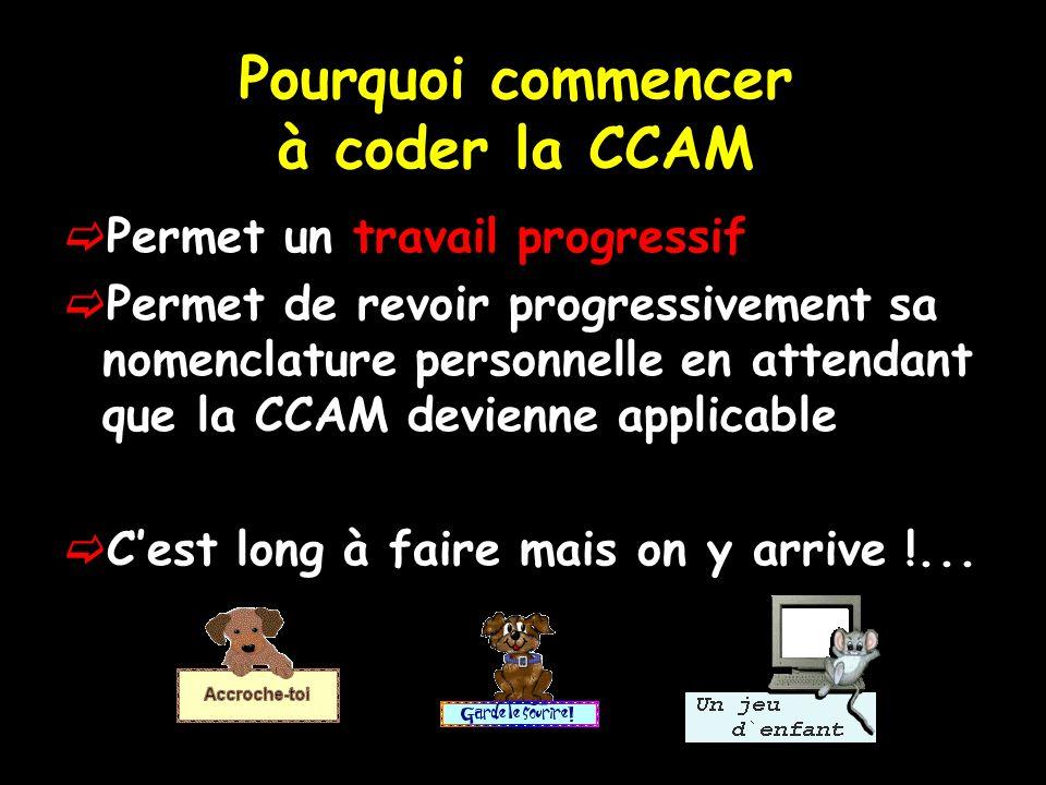 Pourquoi commencer à coder la CCAM