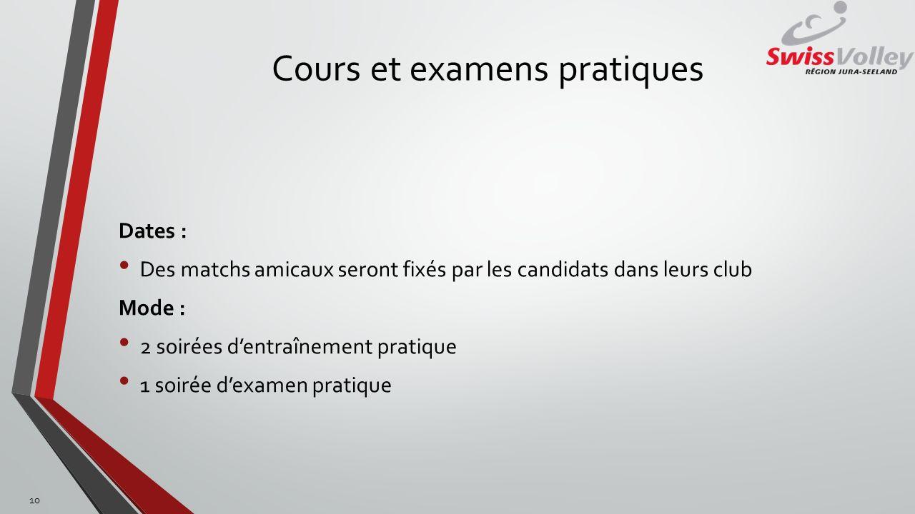 Cours et examens pratiques
