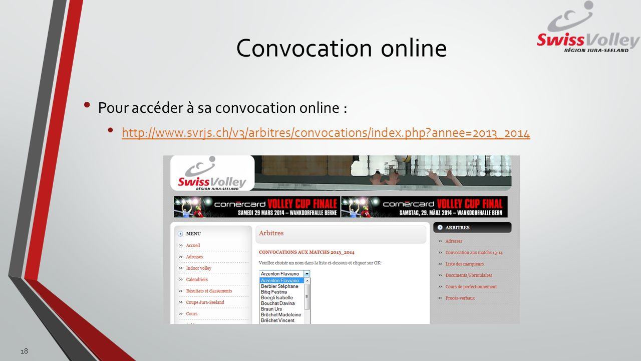 Convocation online Pour accéder à sa convocation online :