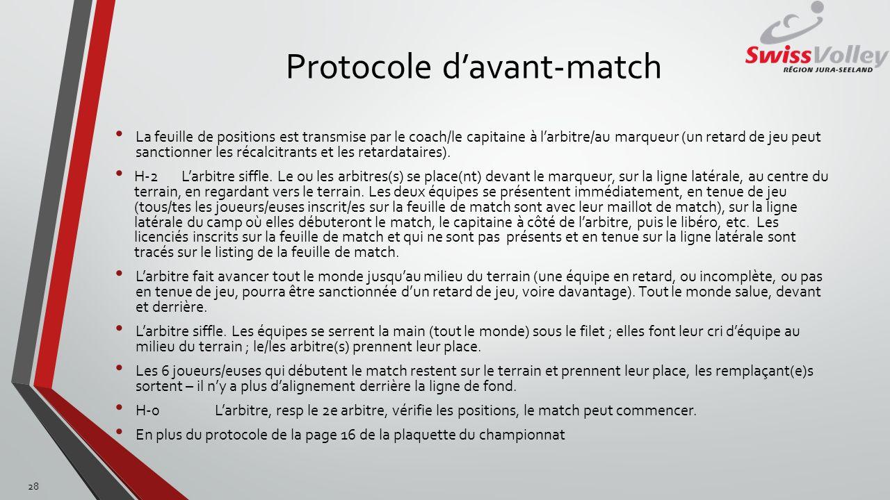 Protocole d'avant-match