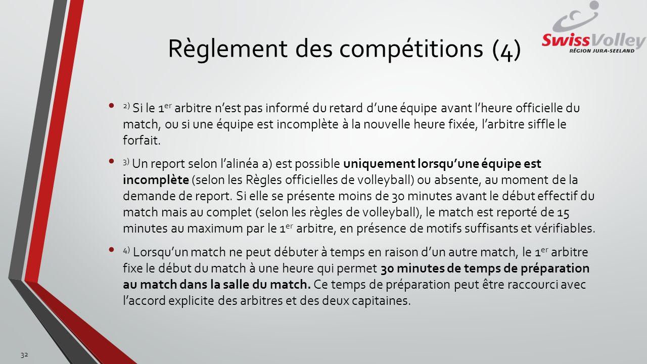 Règlement des compétitions (4)