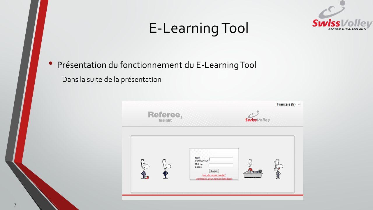 E-Learning Tool Présentation du fonctionnement du E-Learning Tool