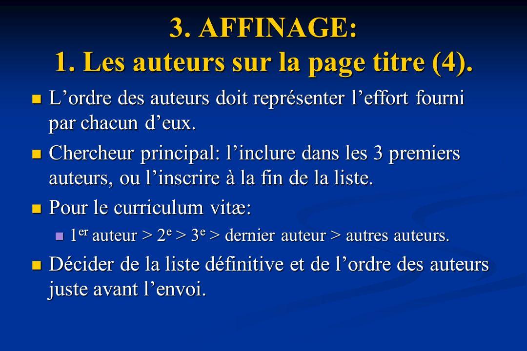 3. AFFINAGE: 1. Les auteurs sur la page titre (4).