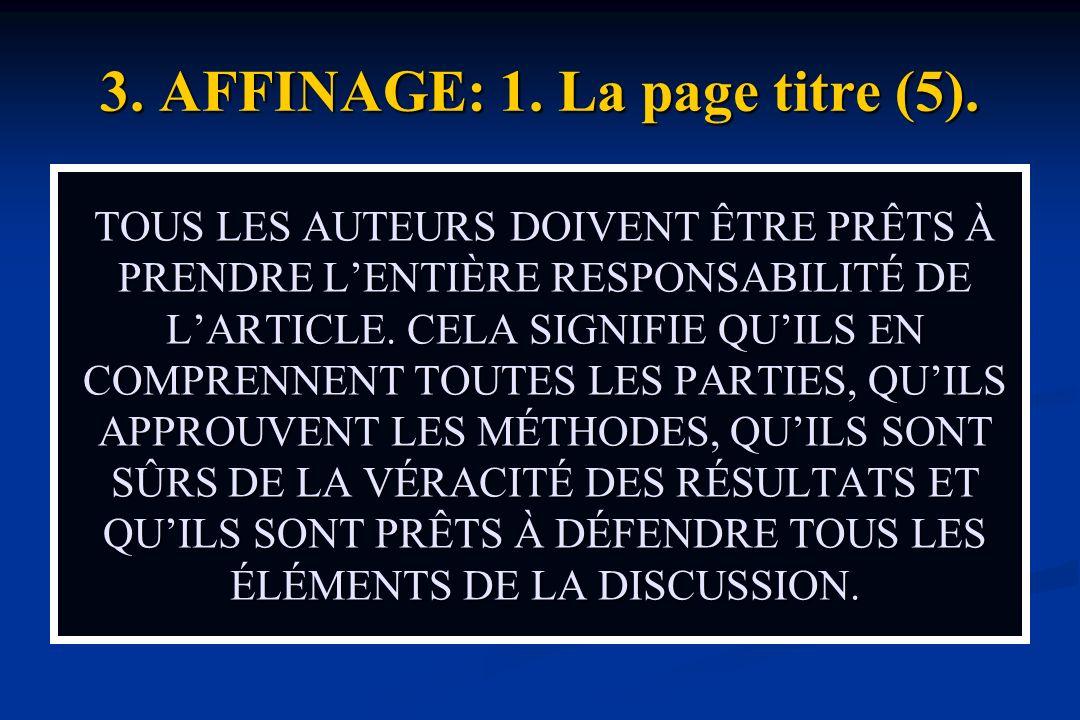 3. AFFINAGE: 1. La page titre (5).