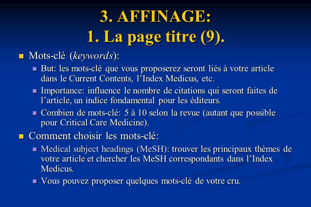 3. AFFINAGE: 1. La page titre (9).