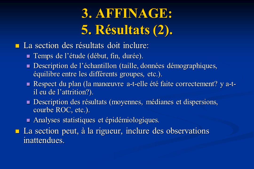 3. AFFINAGE: 5. Résultats (2).