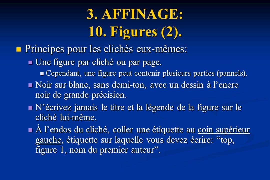 3. AFFINAGE: 10. Figures (2). Principes pour les clichés eux-mêmes: