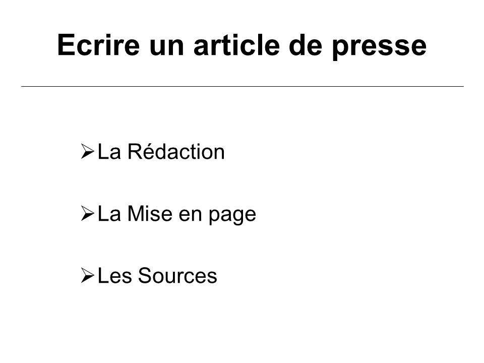 Extrêmement Ecrire un article de presse - ppt video online télécharger OK48