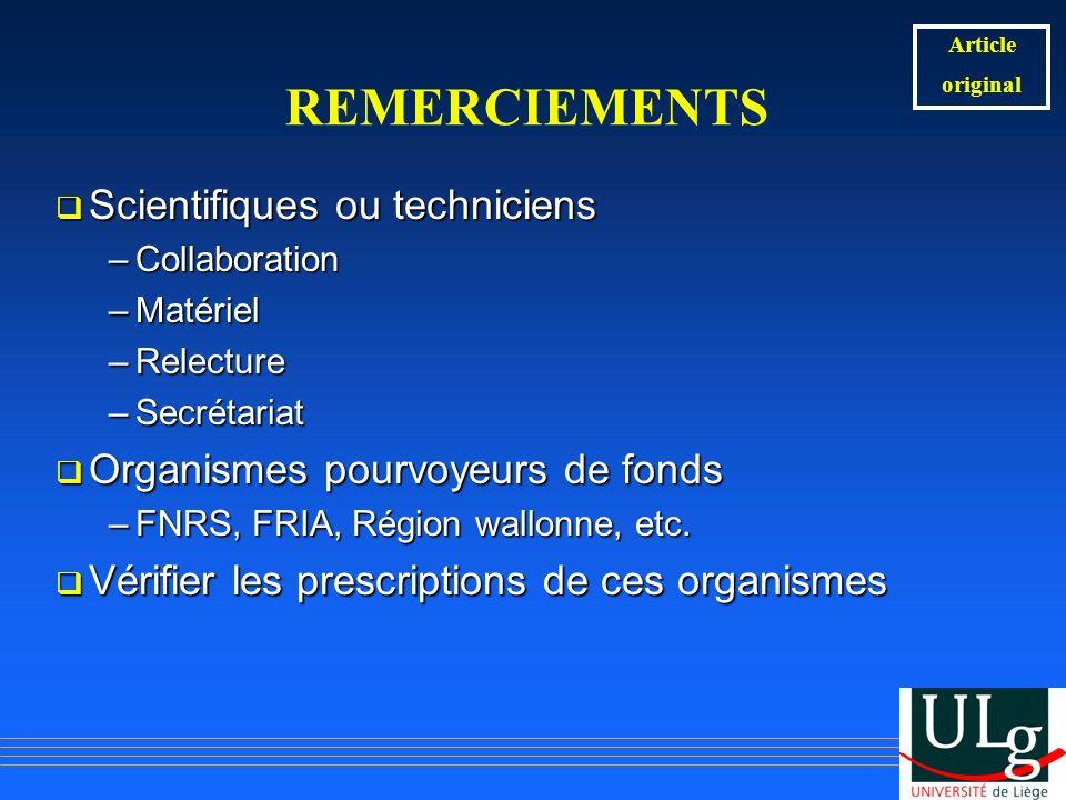 REMERCIEMENTS Scientifiques ou techniciens